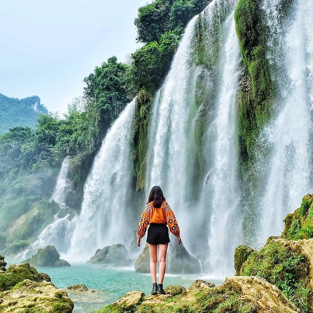 Cận cảnh vẻ đẹp như xứ tiên ở thác Bản Giốc