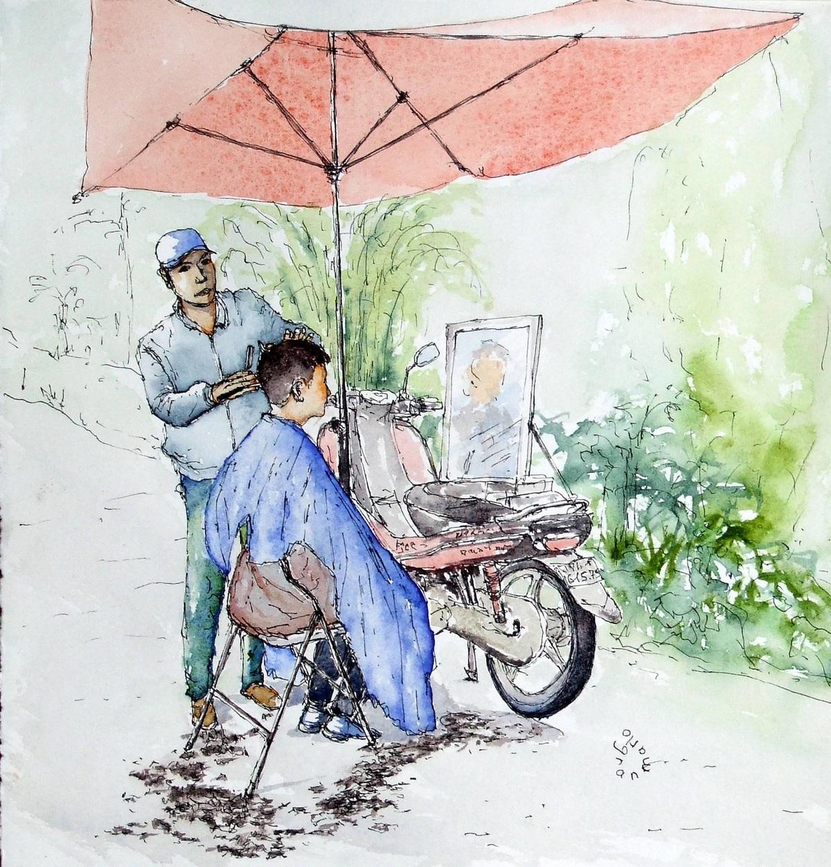 Du khách Pháp ca ngợi Việt Nam qua tranh vẽ