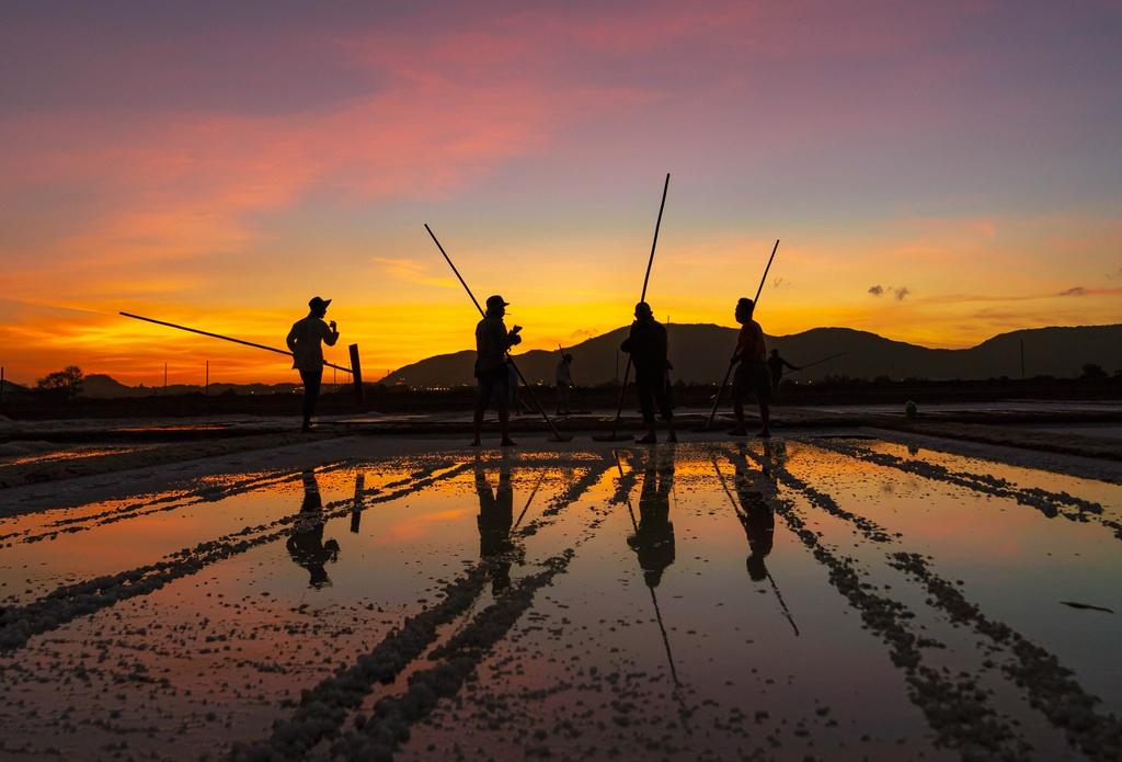 Nét đẹp lao động trên đồng muối Long Điền