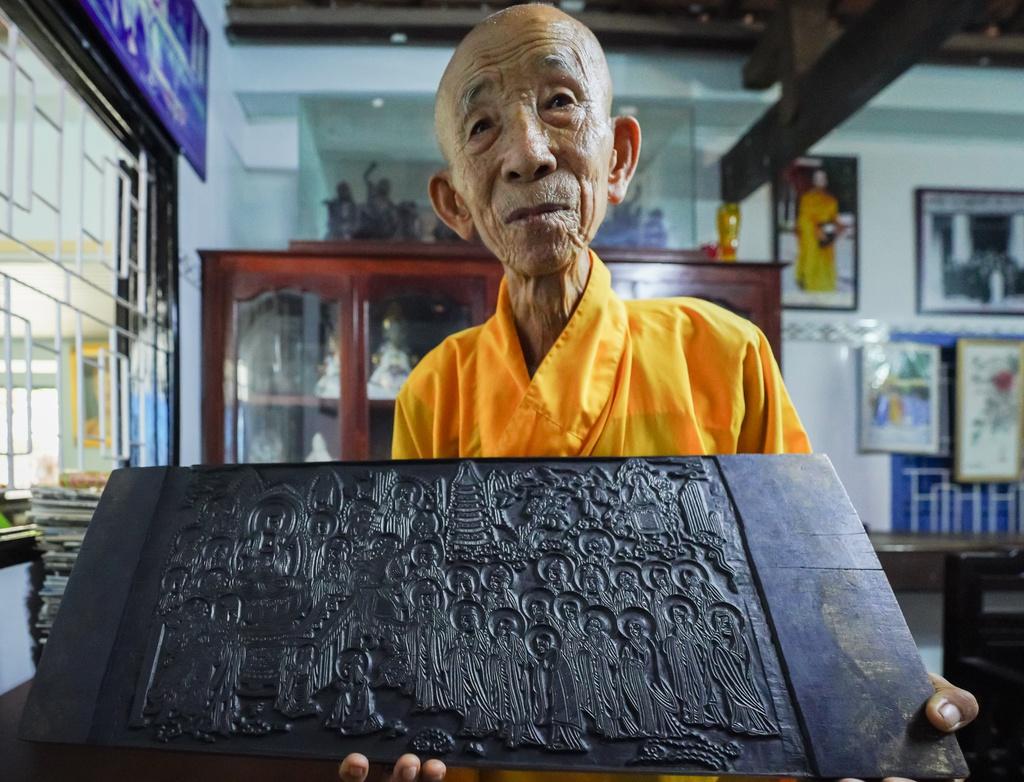Chùa cổ ở Bình Thuận lưu giữ bộ kinh khắc gỗ độc nhất Việt Nam