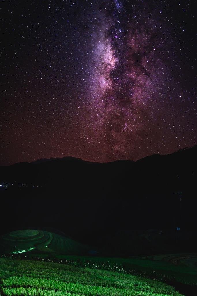 Dải ngân hà rực sáng giữa trời đêm Việt Nam