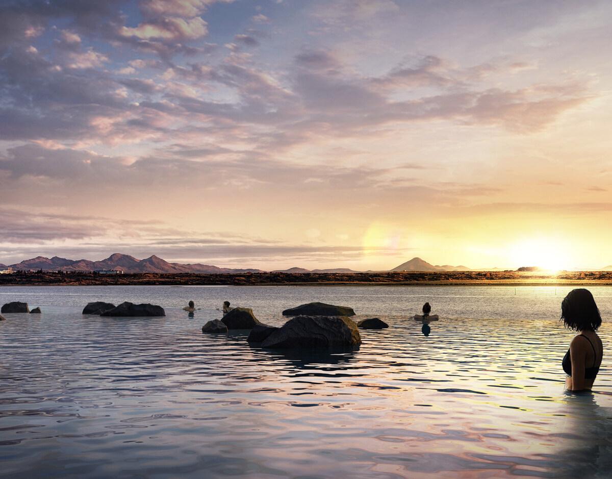 Hồ tắm khoáng nóng vô cực ở Iceland