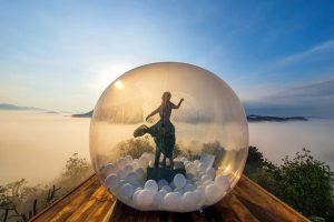 Quán cà phê 'bong bóng mùa hè' ở Đà Lạt