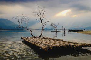 Sông nước hữu tình ở đầm Lập An