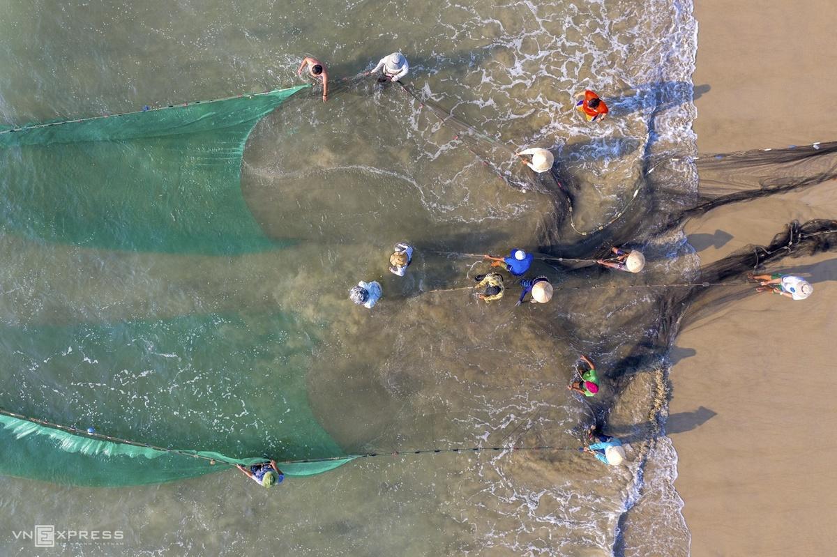 Nghề kéo lưới rùng Sơn Trà